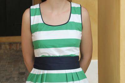 stitching on the edge: striped washi dress & dart rotation