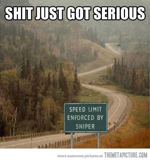 Enforced Speed Limit…