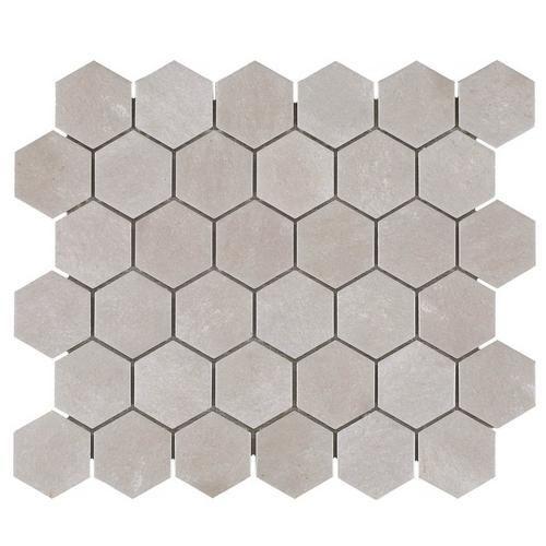 Gray Concrete Matte Hexagon Porcelain Mosaic In 2020 Porcelain Mosaic Shower Floor Tile Hexagon Tile Bathroom