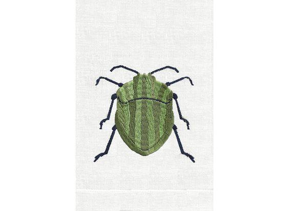 Anali Beetle Linen Guest Towels