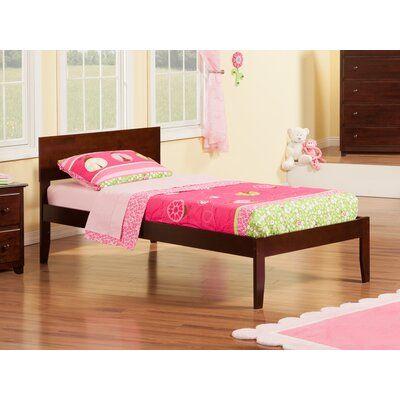 Viv Rae Wasilewski Platform Bed Size Twin Bed Frame Color Antique Walnut Atlantic Furniture Twin Platform Bed Dark Wood Bed Frame