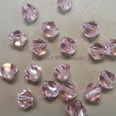 5mm Rosaline (508) Genuine Swarovski crystal 5328 / 5301 Loose Bicone Beads