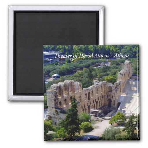 The theater of Herod Atticus in Athens Fridge Magnet