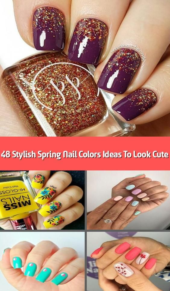 48 Stylish Spring Nail Colors Ideas To Look Cute 2020