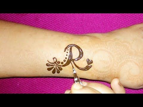 Beautiful R Letter Henna Tattoo Design Diy R Alphabet Mehndi Design Tattoo Youtub Alphabet Tattoo Designs Henna Tattoo Designs Mehndi Designs For Hands
