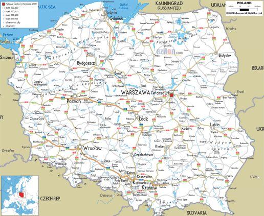 road map of Poland Motorcycle Stuff Pinterest Poland