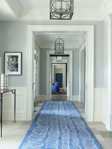 Blue grey walls: