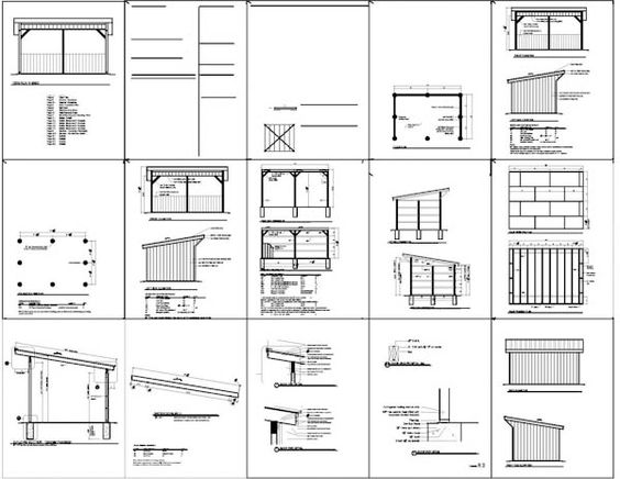 Posts sheds and run in shed on pinterest for Horse barn blueprints free