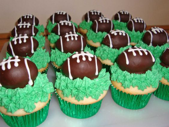 cake decorating ideas  Football Themed Birthday Cake and Cupcake ...