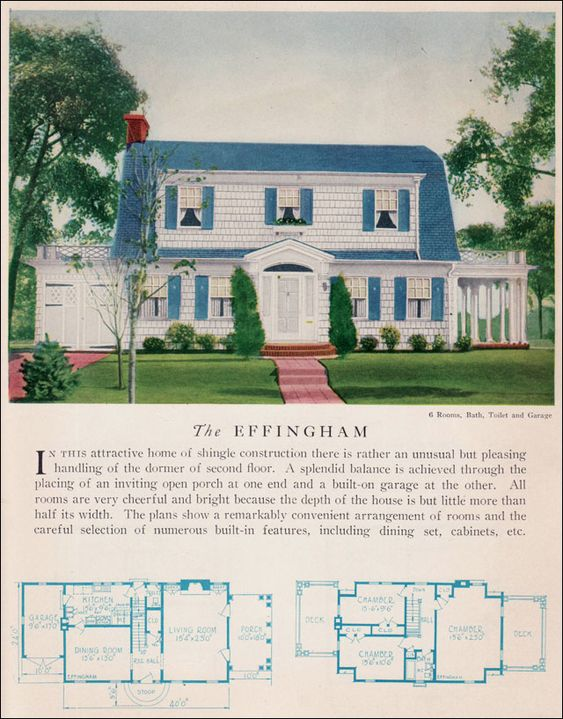 The 1929 effingham dutch colonial revival attached for Colonial garage