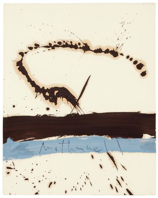 Robert Motherwell, Beside the Sea, No.3 (1962), via Artsy.net