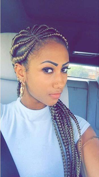 Blonde Ghana Braids: