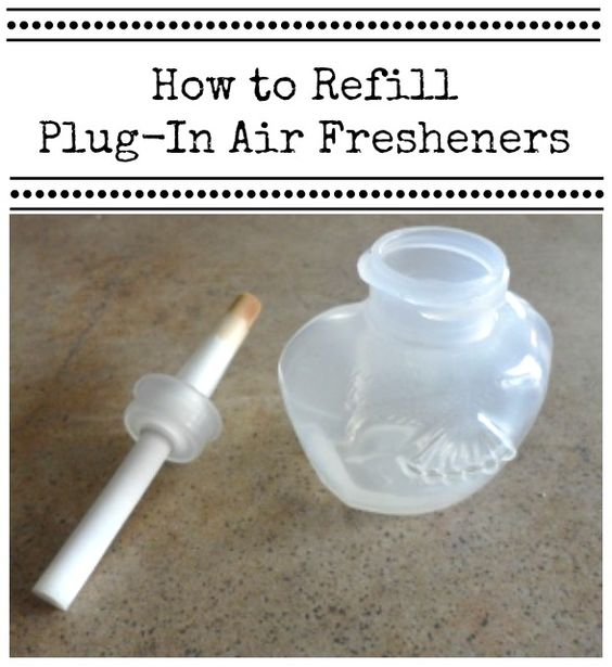 How to refill plug in air fresheners for Air freshener plug in