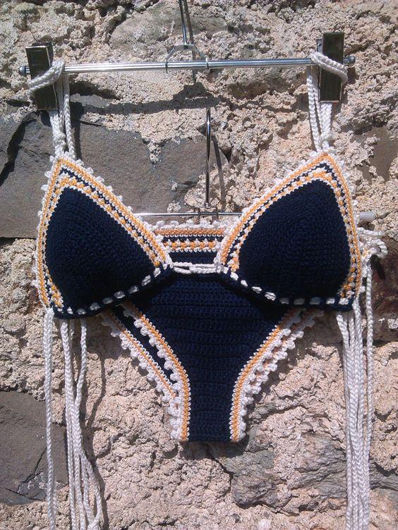 RECHTE AN MUSTERN GEHÖREN DRAGANA - GOODMOODCREATIONS. BITTE RESPEKTIEREN SIE.  Garne aus 100 % hochwertiger Baumwolle.  Dieser Bikini häkeln