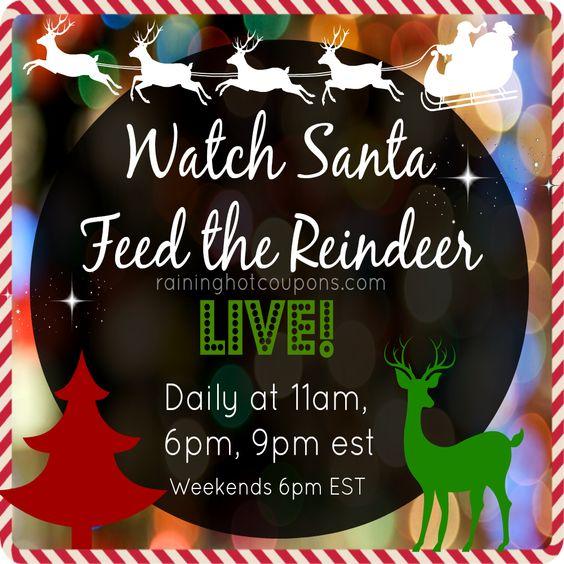 Watch Santa Feed the Reindeer LIVE!