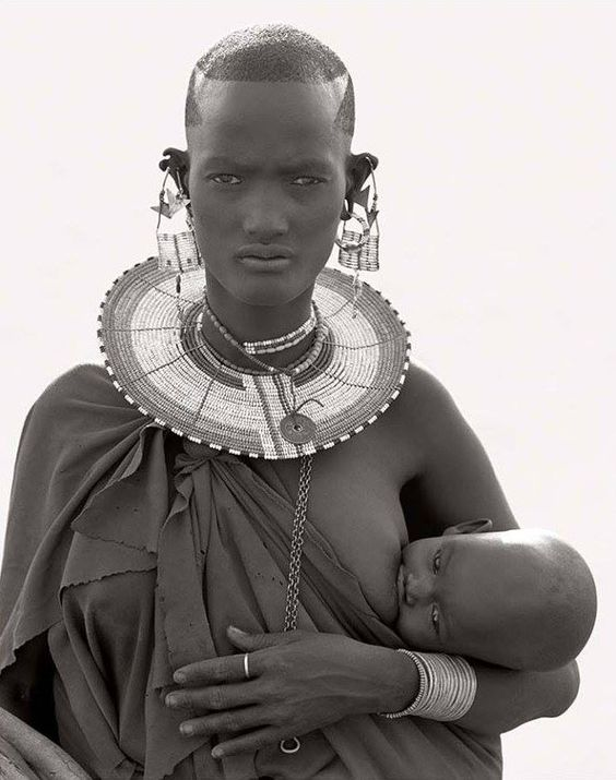 Maasai Woman and Child, Africa 1993.