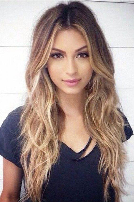 Image result for balayage with olive skin tone