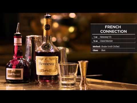 Hennessy Recipes French Connection Youtube In 2020 Grand Marnier Brandy Cocktails French Connection