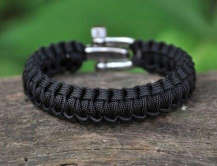 Survival Straps bracelet, stainless steel clasp. Mine just came in the mail today! Stunning...you choose the colors and a part of your purchase goes to our Military. I chose desert camo, grey, with a yellow center in honor our brave men and women