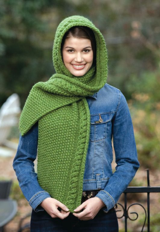 Knitting Pattern Hood With Ears : Hooded scarf, Loom and Loom knit on Pinterest