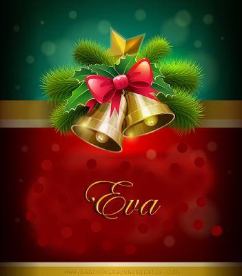 Postales navideñas con nombres: Eva.