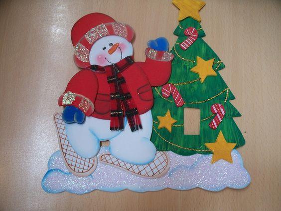 Navidad 2015 en foami buscar con google manualidades - Manualidades de navidad en goma eva ...