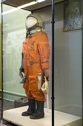 Gagarin's spacesuit, worn during the world's first manned space mission in 1961 - Zvezda Museum, Moscow