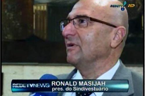 Pres. do Sindivestuario Ronald Masijah em entrevista para o Rede TV News | Sindivestuário
