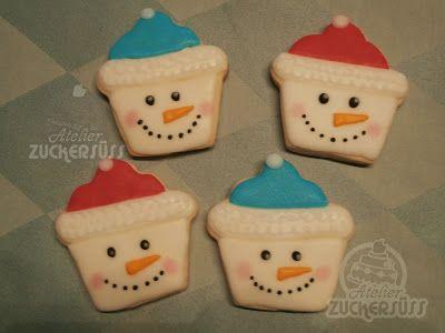 Atelier Zuckersüss: snowmen cookies