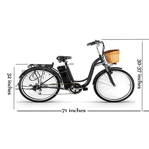 Nakto 26 250w Cargo Electric Bicycle Step Through Ebike 36v 10ah