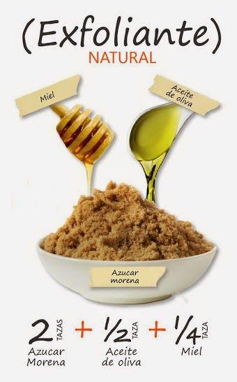 EXFOLIANTE NATURAL Una piel libre de impurezas e hidratada es la clave para que el rostro luzca fresco, joven y radiante. Te ofrecemos una receta para fabricar una mascarilla eficaz y súper sencilla. Aquí te la acercamos.    Esta preparación sirve tanto para pieles secas como grasas. El azúcar limpia impurezas mientras que la miel y el aceite hidratan. No temas usar aceite, ya que por el tamaño de sus moléculas, no es absorbido por la piel. Se recomienda aplicarla por la noche.