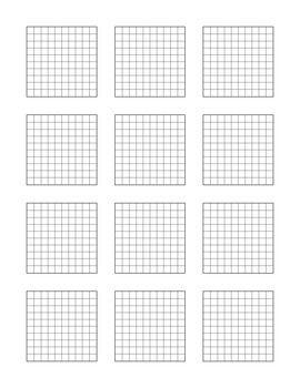 Gargantuan image in printable hundredths grid
