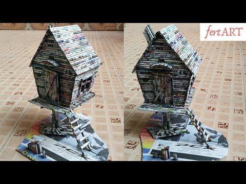 Cara Membuat Miniatur Rumah Dari Tusuk Sate - Sekitar Rumah