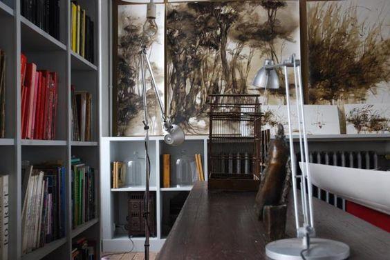 Artist Claire Basler's studio | Les Ormes, Paris