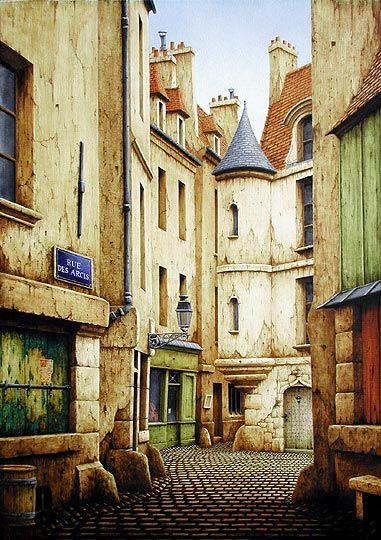 Paris disparu (4e Ile de la Cité) - Rue des Arcis (Saint-Pierre-des-Arcis)