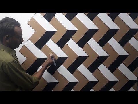 3d Wall Painting 3d Wall Texture New Design Ideas 3d Wall Decoration Effect Interior Design Youtube Dinding Gambar Desain