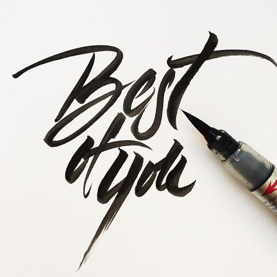 """Best of You"" by @jana_papiernikova  #typespot for a feature! ____ #typography #type #typo #customtype #graphicdesign #script #letters #lettering #handlettering #customlettering #vector ____ #typegang #typecally #typetopia #typematters #thedailytype #strengthinletters #ligaturecollective #typespire #typographyinspired #artoftype #designspiration #todaystype #thedesigntip by typespot"