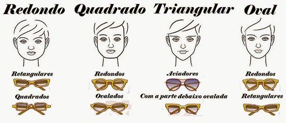 Calçados e acessórios: Melhores Formatos de Óculos Para Cada Formato de R...
