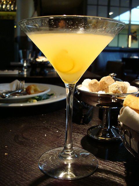 """... marmalade cocktail"""", it is a gin martini with marmalade, orange"""