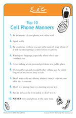 cell phone etiquette speech outline On a phone call the only impression a customer gets is that of your voice  tips  for telephone etiquette 1 ask the caller, to whom am i speaking  head:  children's etiquette children's etiquette outline university of.