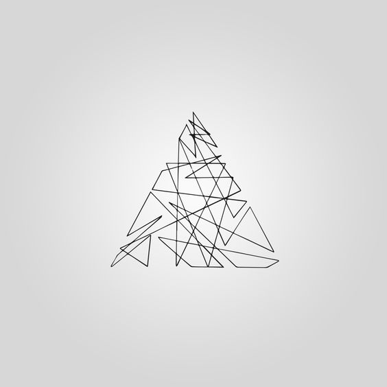"M I N I M A L I S T A — ""One line triangle"""