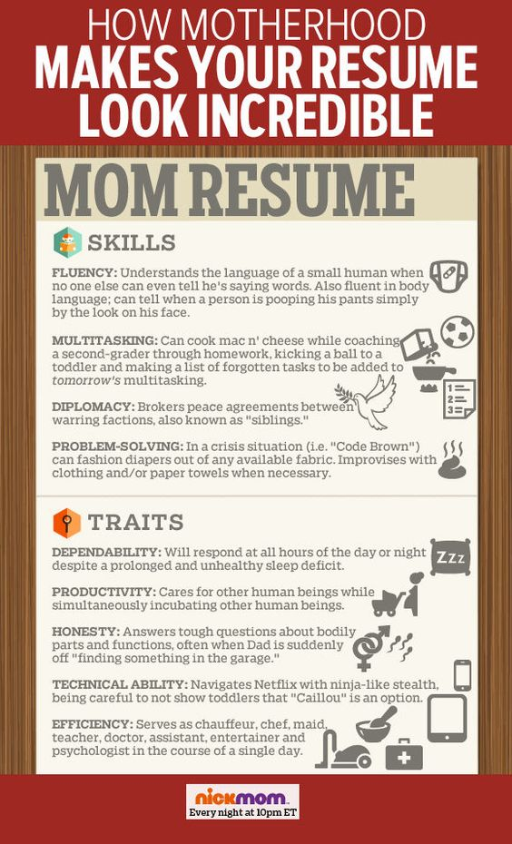 How Motherhood Makes Your Resume Look Incredible More LOLs - chauffeur resume