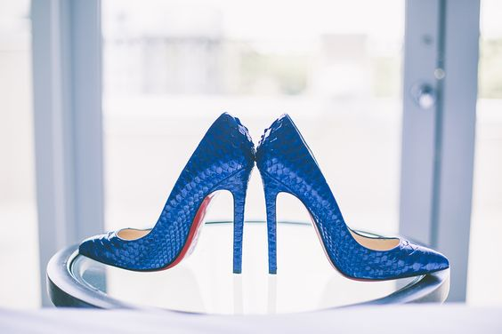 Christian Louboutin || wedding || something blue
