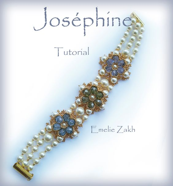 Beading tutorial. Joséphine bracelet. ! PDF file containing instructions for making the Crystal ,not the bracelet itself.