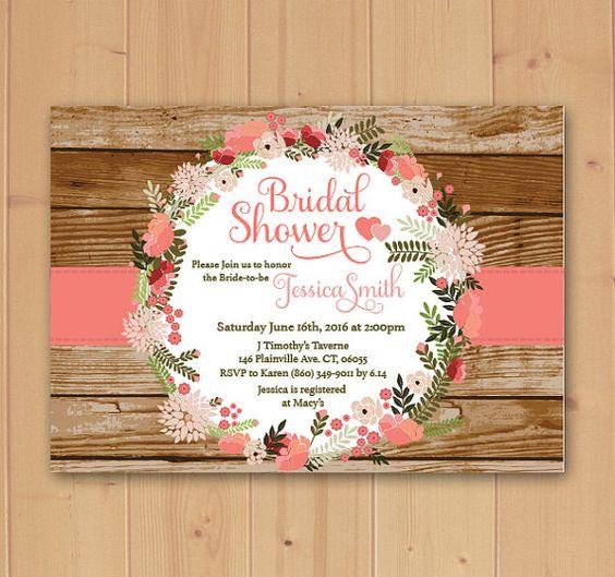 Bridal Shower Invitation, Floral Bridal Shower Invitation, Floral Bridal Shower, Bridal Shower, Invitation, Bridal Shower invitations