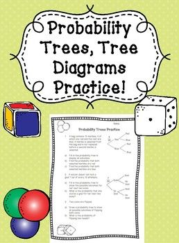 Your Students Will Love This Practice Worksheet For Probability Tree Diagrams Complete With Attractive Graphic Tree Diagram Probability Worksheets Probability