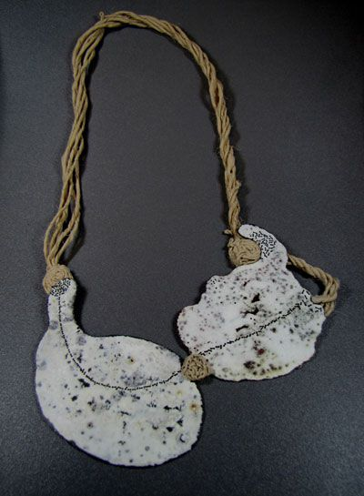 ceramic and threads #porcelain #jewelry