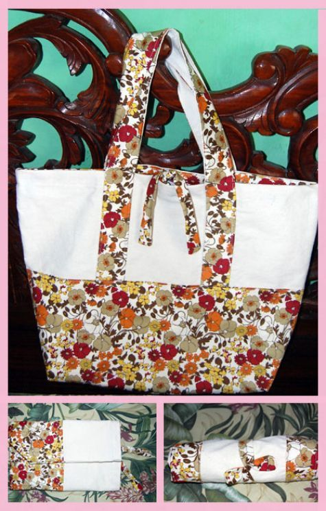 Get the instructions on my blogsite.  How to make a fashionable eco bag.  http://galeygoogoo.blogspot.com/
