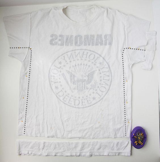 Transformando camiseta em blusinha