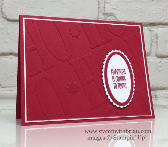 Hang Your Stocking, Large Letters Framelits, Layering Ovals Framelits, Stampin' Up!, Brian King